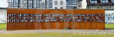 Victims of the berlin wall Editorial Stock Photo