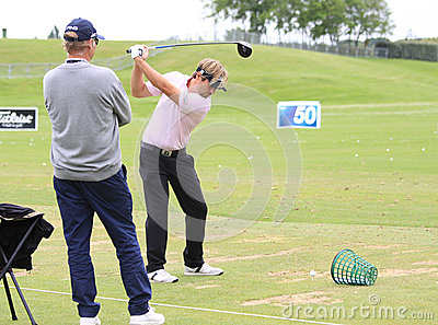 Victor Dubuisson at The French golf Open 2013 Editorial Stock Photo