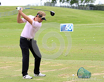 Victor Dubuisson at The French golf Open 2013 Editorial Stock Image