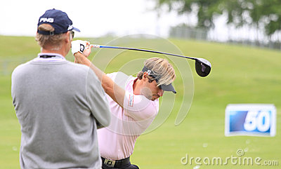 Victor Dubuisson at The French golf Open 2013 Editorial Photography