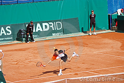 Victor Hanescu at Davis Cup 8 Editorial Stock Photo