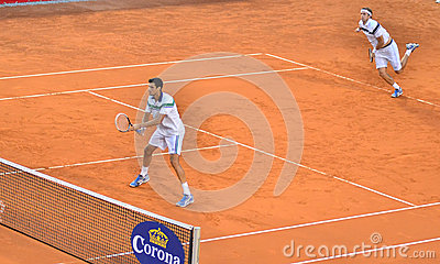 Victor Hanescu and Gilles Muller Editorial Image