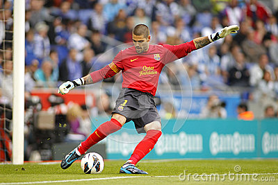 Victor Valdes of FC Barcelona Editorial Stock Photo