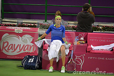 Victoria Azarenka Break Time Editorial Photo