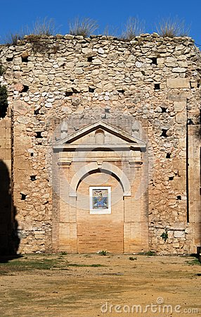 Victoria church ruin, Estepa, Spain.