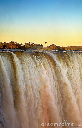Free Victoria Falls At Sunset Stock Images - 2687164