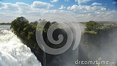 Victoria Falls Devils Cataract vídeos de arquivo