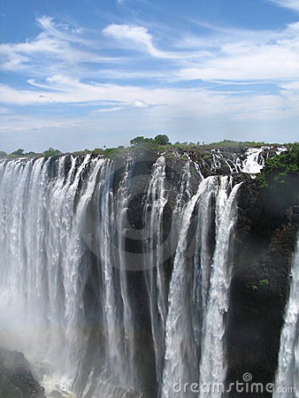 Victoria Falls on a nice day