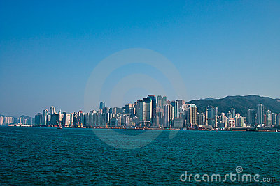 Victoria harbor of hongkong Editorial Photo