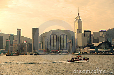 Victoria harbor of hongkong Editorial Stock Photo