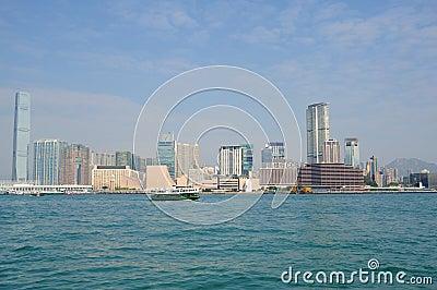 Victoria harbor of hongkong Editorial Stock Image