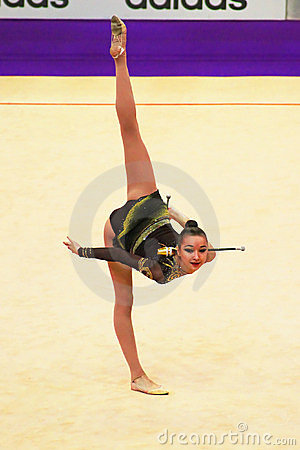 Victoria Mazur (Ukraine) performs at World Cup Editorial Image