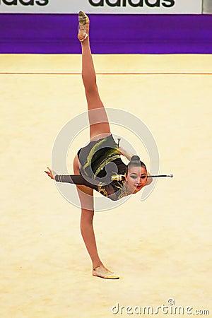 Victoria Mazur (Ukraine) performs at World Cup Editorial Image