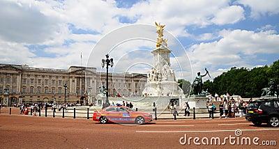 Victoria Memorial and police car Editorial Photography