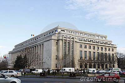 Victoria Palace - Romanian Government Editorial Stock Image