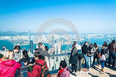 Victoria Peak Redaktionell Fotografering för Bildbyråer