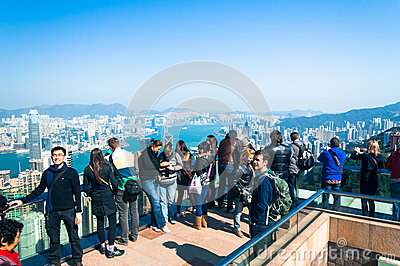 Victoria Peak Editorial Photography