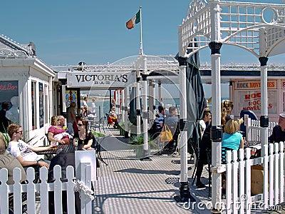 Victoria s Bar on Brighton Pier, UK. Editorial Image