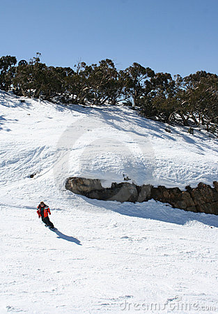 In Victoria Ski fahren, Australien