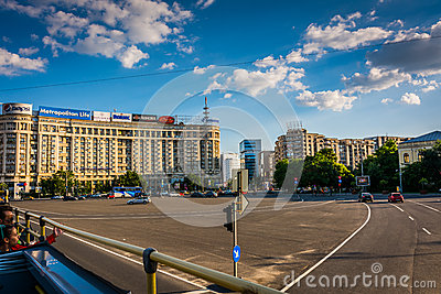 Victoria Square, Bucharest Editorial Image