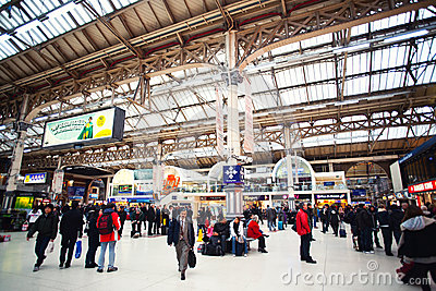 Victoria station London Editorial Photography