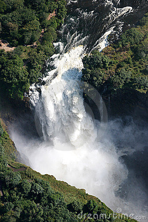 Victoria Waterfall and the Zambesi river