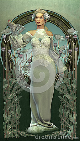 Free Victorian Beauty In White Royalty Free Stock Photo - 29544955