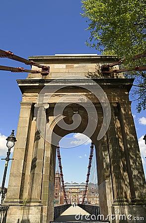 Victorian bridge River Clyde, Glasgow, Scotland