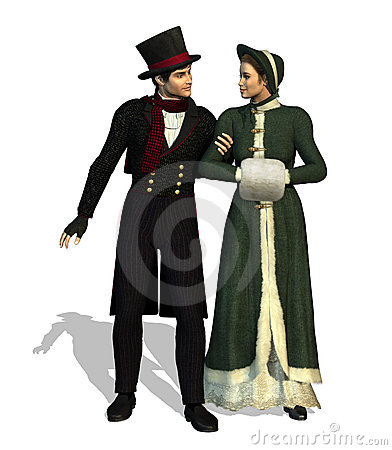 Free Victorian Couple Stock Photography - 6897492