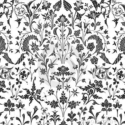 Victorian floral overlay background