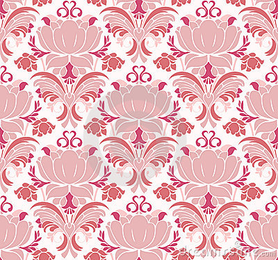 Victorian floral pattern