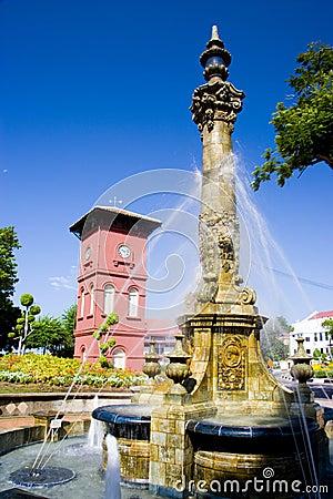 Victorian Fountain and Dutch Clock Tower