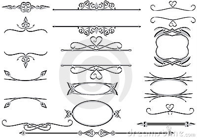 Victorian Frames Or Rulelines Vector Eps Stock Image - Image: 17895991