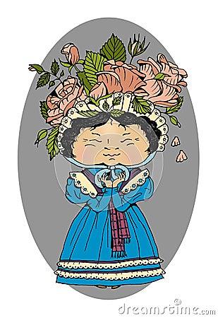 Victorian girl Stock Photo