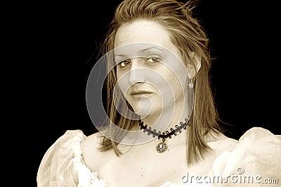 Victorian girl portrait