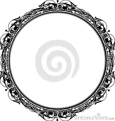 Free Victorian Grunge Circle Frame Royalty Free Stock Photos - 2075318