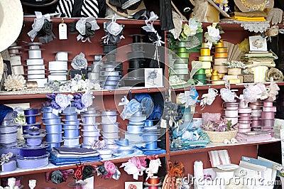Victorian Haberdashery Ribbons Stock Photo
