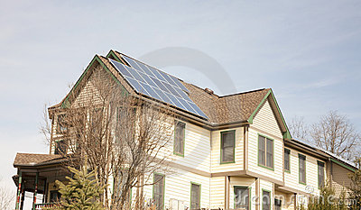 Victorian Home with Solar Panels