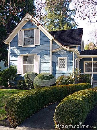 Victorian house entrance and garden