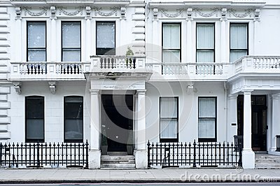 Victorian house facade in London