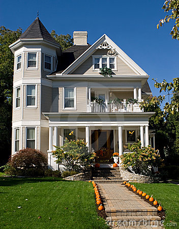 Victorian House in Fall