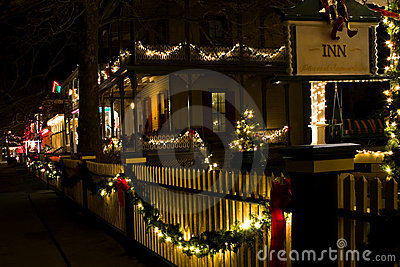 Victorian houses at Christmas