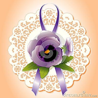 Victorian Lace, Violet Pansies