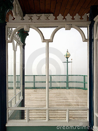 Victorian Pier Window, view to sea
