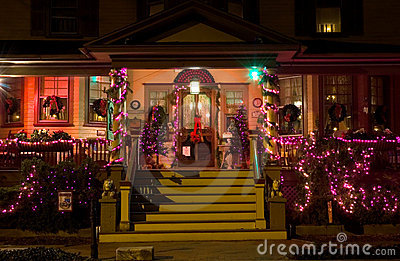 Victorian Porch at Christmas