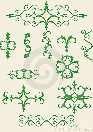 Victorian scroll elements