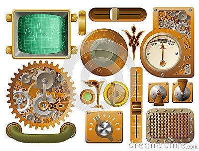 Victorian Steampunk design elements