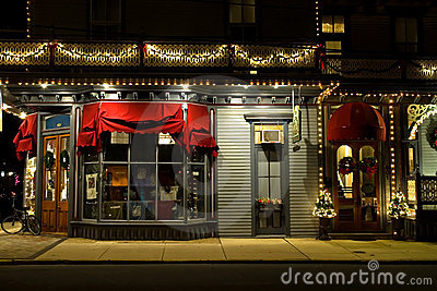Victorian Storefront at Christmas
