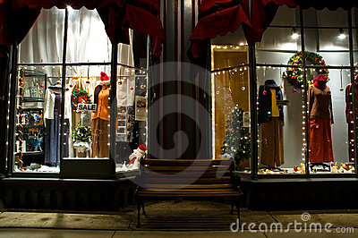 Victorian Storefront at Christmas-  2