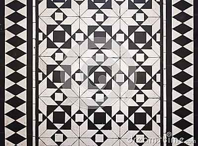Victorian style floor tile pattern